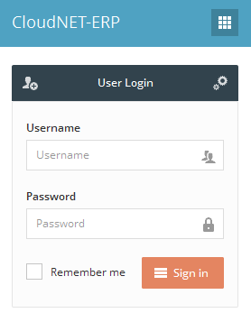 cloudNET-ERP Login software